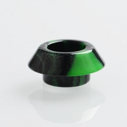 Authentic Reewape AS150 Replacement 810 Drip Tip for 528 Goon / Kennedy / Battle / Mad Dog RDA - Green, Resin, 9mm