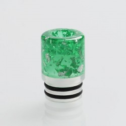 510 MTL Drip Tip for RDA / RTA / RDTA / Clearomizer / Sub-Ohm Tank Vape Atomizer - Green, Resin + Acrylic, 15.5mm
