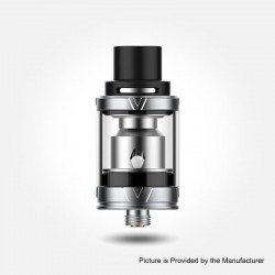 Authentic Vaporesso VECO Plus Sub-Ohm Tank Atomizer - Silver, 316 Stainless Steel + Glass, 0.2ohm / 0.6ohm, 4ml, 24.5mm Diameter