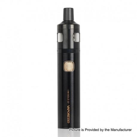 Authentic Vaporesso VM SOLO 22 2000mAh Vape Pen w/ VM 22 Sub-Ohm Tank Starter Kit - Black, 0.6 / 1.0ohm, 2ml, 22mm Diameter
