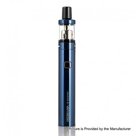 Authentic Vaporesso VM Stick 18 1200mAh Starter Kit w/ VM 18 Sub-Ohm Tank - Blue, 0.6 / 1.0ohm, 2ml, 18mm Diameter