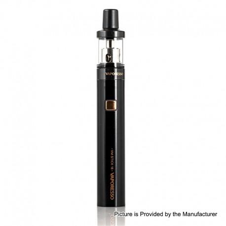 Authentic Vaporesso VM Stick 18 1200mAh Starter Kit w/ VM 18 Sub-Ohm Tank - Black, 0.6 / 1.0ohm, 2ml, 18mm Diameter