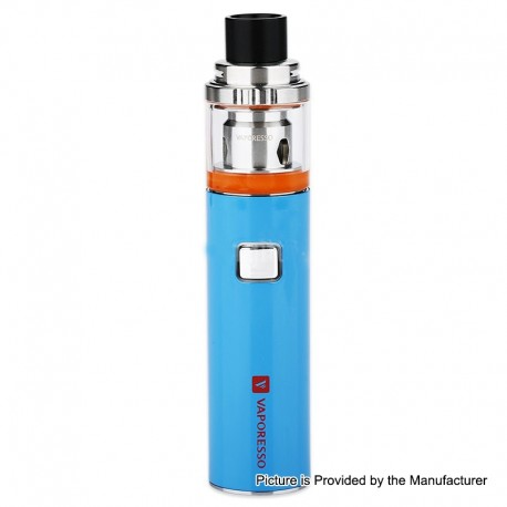 Authentic Vaporesso VECO Solo 1500mAh AIO Starter Kit w/ Sub-Ohm Tank - Blue, 0.2 / 0.3ohm, 2ml, 22mm Diameter