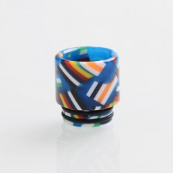 Authentic Reewape AS162 Replacement 810 Drip Tip for SMOK TFV8/TFV12 Tank/Goon/Kennedy RDA - Blue + Multiple Color, Resin, 17mm