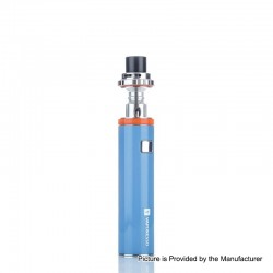Authentic Vaporesso VECO Solo 3300mAh AIO Starter Kit w/ Sub-Ohm Tank - Blue, 0.3ohm, 4ml, 24.5mm Diameter