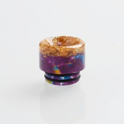 Authentic Reewape AS164 Replacement 810 Drip Tip for SMOK TFV8 / TFV12 Tank/Goon/Kennedy/Reload RDA - Purple + Gold, Resin, 15mm