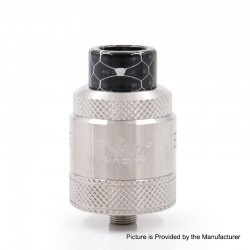 Authentic Myuz Hadar RDA Rebuildable Dripping Atomizer w/ BF pin - Silver, 25mm Diameter