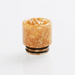 Authentic Reewape AS116C Replacement 810 Drip Tip for 528 Goon / Kennedy / Battle / Mad Dog RDA - Gold, Resin, 18mm