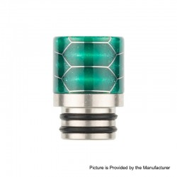 Authentic Reewape AS103S 510 Drip Tip for RDA / RTA / RDTA / Sub-Ohm Tank Vape Atomizer - Green, Stainless Steel + Resin, 16mm