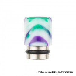Authentic Reewape AS104 510 Drip Tip for RDA / RTA / RDTA / Sub-Ohm Tank Vape Atomizer - White, Stainless Steel + Resin, 15.6mm