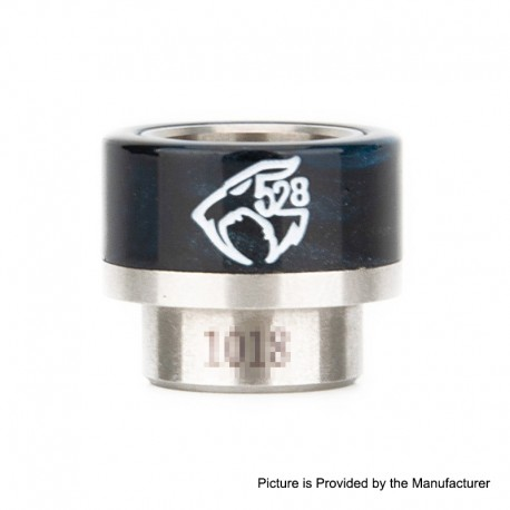 Authentic Reewape AS133 Replacement 810 Drip Tip for 528 Goon / Kennedy / Battle - Blue Black, Stainless Steel + Resin, 14mm