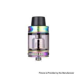 Authentic Vapor Storm Trip Sub-Ohm Tank Atomizer - Rainbow, Stainless Steel + Glass, 0.2ohm, 2.0ml / 6.0ml, 24mm Diameter