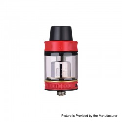 Authentic Vapor Storm Trip Sub-Ohm Tank Atomizer - Red, Stainless Steel + Glass, 0.2ohm, 2.0ml / 6.0ml, 24mm Diameter