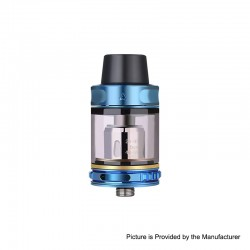 Authentic Vapor Storm Trip Sub-Ohm Tank Atomizer - Blue, Stainless Steel + Glass, 0.2ohm, 2.0ml / 6.0ml, 24mm Diameter