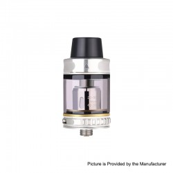 Authentic Vapor Storm Trip Sub-Ohm Tank Atomizer - Silver, Stainless Steel + Glass, 0.2ohm, 2.0ml / 6.0ml, 24mm Diameter
