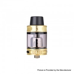 Authentic Vapor Storm Trip Sub-Ohm Tank Atomizer - Gold, Stainless Steel + Glass, 0.2ohm, 2.0ml / 6.0ml, 24mm Diameter
