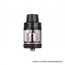 Authentic Vapor Storm Trip Sub-Ohm Tank Atomizer - Black, Stainless Steel + Glass, 2.0ml / 6.0ml, 24mm Diameter