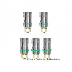 [Ships from HongKong] Authentic Eleaf EC-Ceramic SS316L Coil Head - Silver, 0.5 Ohm (30~60W) (5 PCS)