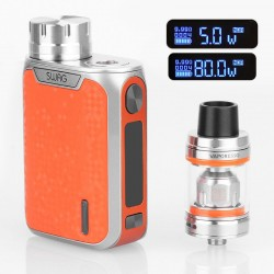 [Ships from HongKong] Authentic Vaporesso Swag 80W TC VW Box Mod + NRG SE Tank Kit - Orange, 5~80W, 1 x 18650, 4.5ml, 22mm Dia