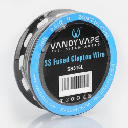 [Ships from HongKong] Authentic Vandy Vape SS316L Heating Resistance Wire - 24GA x 2 + 32GA, 0.61 Ohm / Ft, 3m (10 Feet)