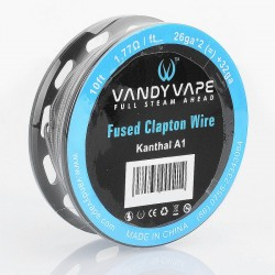 [Ships from HongKong] Authentic Vandy Vape Kanthal A1 Fused Clapton Heating Wire - 26GA x 2 + 32GA, 1.77 Ohm / Ft, 3m (10 Feet)