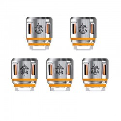 [Ships from HongKong] SMOKTech SMOK V8 Baby-T12 Orange Light Duodecuple Coil for TFV12 Baby Prince - 0.15 Ohm (50~90W) (5 PCS)