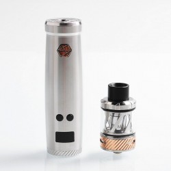 [Ships from HongKong] Authentic Uwell Nunchaku 80W TC VW Variable Wattage Mod + Tank Starter Kit - Silver, 5~80W, 1 x 18650, 5ml