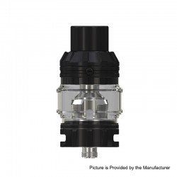 [Ships from HongKong] Authentic Eleaf Rotor Sub-Ohm Tank Atomizer - Black, Stainless Steel + Glass, 5.5ml, 0.2ohm, 26mm Diameter