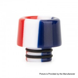 Authentic Reewape AS155 510 Drip Tip for RDA / RTA / RDTA / Sub-Ohm Tank Atomizer - Red White Blue, Resin, 14mm
