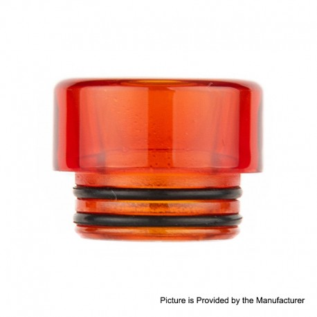 Authentic Reewape AS225 810 Drip Tip for SMOK TFV8 / TFV12 Tank / Kennedy - Red, Resin, 12mm