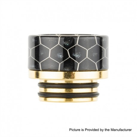 Authentic Reewape AS181 810 Drip Tip for SMOK TFV8 / TFV12 Tank / Kennedy - Black, Resin + SS, 14mm