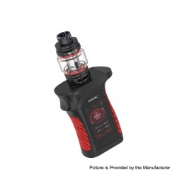 Authentic SMOKTech SMOK MAG P3 230W TC VW Box Mod w/ TFV16 Tank Kit - Black Red, 1~230W, 2 x 18650, 9ml (Standard Edition)