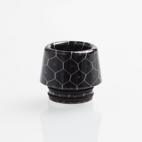 Authentic Reewape AS170 Replacement 810 Drip Tip for 528 Goon / Reload / Battle RDA - Black, Resin, 13mm