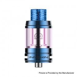 Authentic Innokin iSub-B Sub Ohm Tank Clearomizer - Blue, Stainless Steel + Pyrex Glass, 3ml / 4ml, 0.35ohm, 24mm Diameter
