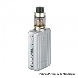 Authentic Vapor Storm Trip 200W Suitcase TC VW Variable Wattage Box Mod + Trip Tank Kit - Silver, 5~200W, 2 x 18650, 2ml / 6ml
