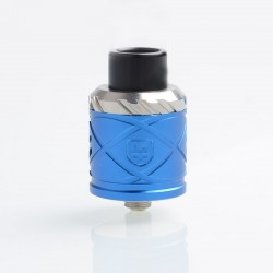 RH X Style RDA Rebuildable Dripping Atomizer w/ BF Pin - Blue, Stainless Steel + Aluminum, 24mm Diameter