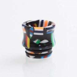 Authentic Reewape AS172 Replacement 810 Drip Tip for SMOK TFV8 / TFV12 Tank / Kennedy - Black + Multiple Color, Resin, 15.5mm