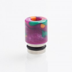 Authentic Reewape AS104 510 Drip Tip for RDA / RTA / RDTA / Sub-Ohm Tank Vape Atomizer - Purple, Stainless Steel + Resin, 15.6mm