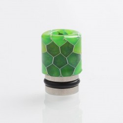 Authentic Reewape AS104S 510 Drip Tip for RDA / RTA / RDTA / Sub-Ohm Tank Vape Atomizer - Green, Stainless Steel + Resin, 15mm