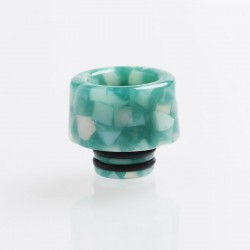 Authentic Reewape AS152 510 Drip Tip for RDA / RTA / RDTA - Green White, Resin, Temperature Change, 14mm
