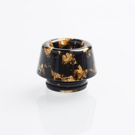 Authentic Reewape AS179 Replacement 810 Drip Tip for SMOK TFV8 / TFV12 Tank / Kennedy - Black Gold, Resin, 13mm