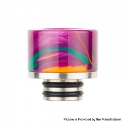 Authentic Reewape AS131 510 Drip Tip for RDA / RTA / RDTA / Sub-Ohm Tank Atomizer - Purple, Resin + SS, 11mm