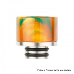Authentic Reewape AS131 510 Drip Tip for RDA / RTA / RDTA / Sub-Ohm Tank Atomizer - Yellow, Resin + SS, 11mm