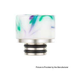 Authentic Reewape AS131 510 Drip Tip for RDA / RTA / RDTA / Sub-Ohm Tank Atomizer - White, Resin + SS, 11mm