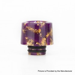 Authentic Reewape AS177 510 Drip Tip for RDA / RTA / RDTA / Sub-Ohm Tank Atomizer - Purple Gold, Resin, 15mm