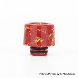 Authentic Reewape AS177 510 Drip Tip for RDA / RTA / RDTA / Sub-Ohm Tank Atomizer - Red Gold, Resin, 15mm
