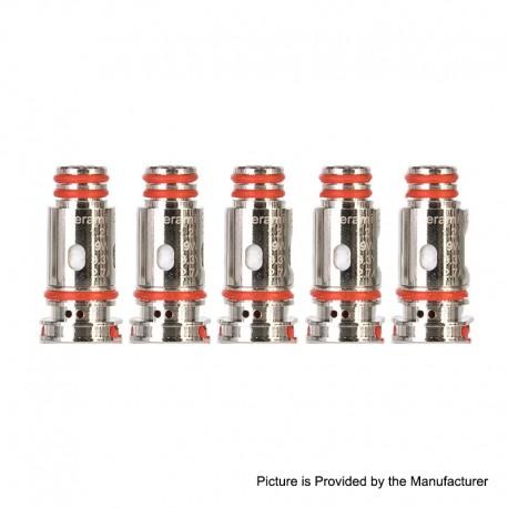 Authentic Bohr Flask Pod System Replacement DL Mesh Coil Head - Silver, 0.4ohm (5 PCS)