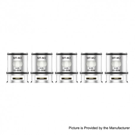 Authentic Voopoo MT-M2 Replacement Dual Mesh Coil Head for Maat Tank Atomizer - Silver, 0.2ohm (55~80W) (5 PCS)