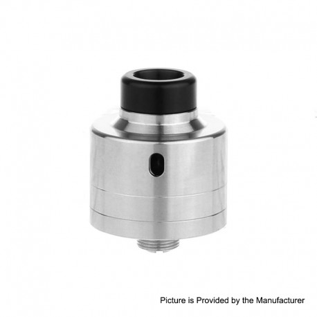 Haku Riviera Style RDA Rebuildable Dripping Atomizer w/ BF Pin - Stainless Steel, SS, 22mm Diameter
