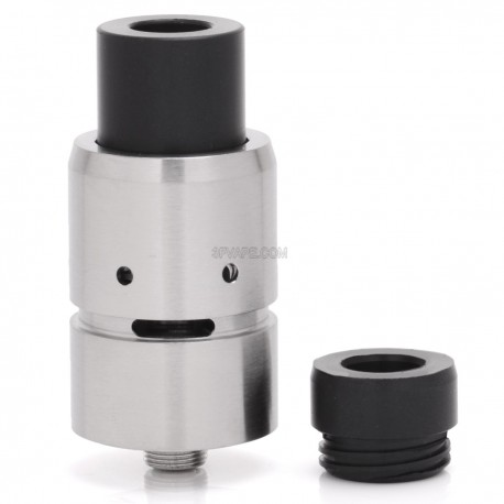 Velocity Style RDA Rebuildable Dripping Atomizer - Silver, Stainless Steel, 22mm Diameter, 1:1
